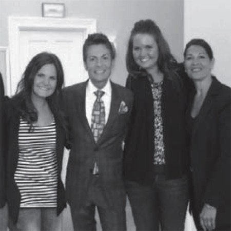 "Posing with Randy Fenoli from ""Say Yes to the Dress"" is Christy Bruce."
