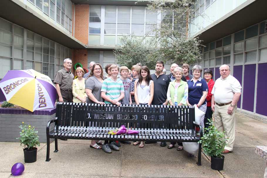 Former DHS Counselor Dottie McEuin was honored during a ceremony on March 27th in the courtyard. The school, through donations placed a bench in her honor for students to use for years to come.