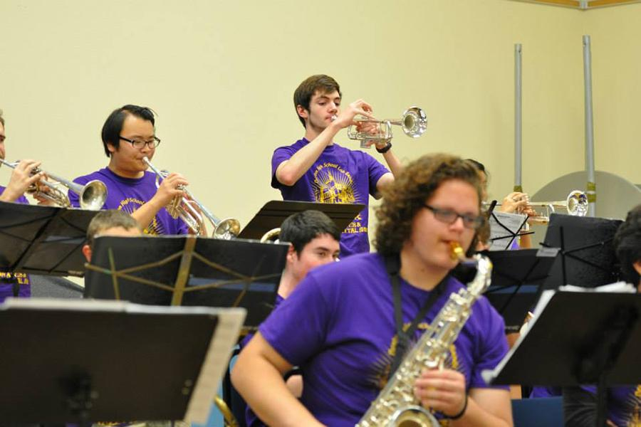 Denton High Jazz Lab Band one performs at the Arts and Jazz festival for the third consecutive year.